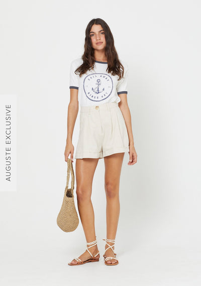 Sail Away Ringer Tee - Auguste The Label