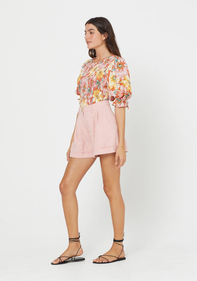 Sunset Lila Blouse Blush