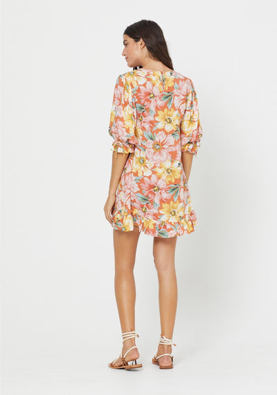 Sunset Lila Mini Dress Blush - Auguste The Label
