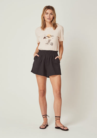Rosebud Victoria Tee Dusty Blush - Auguste The Label