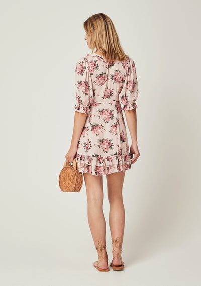 Roselle Skylar Mini Dress Blush - Auguste The Label