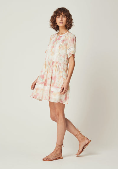 Lumi Wren Mini Dress Off White - Auguste The Label