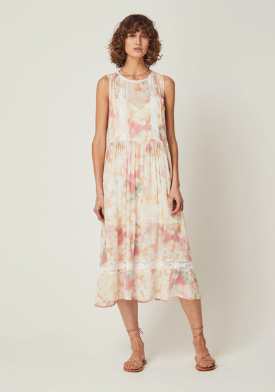 Lumi Wren Midi Dress Off White - Auguste The Label