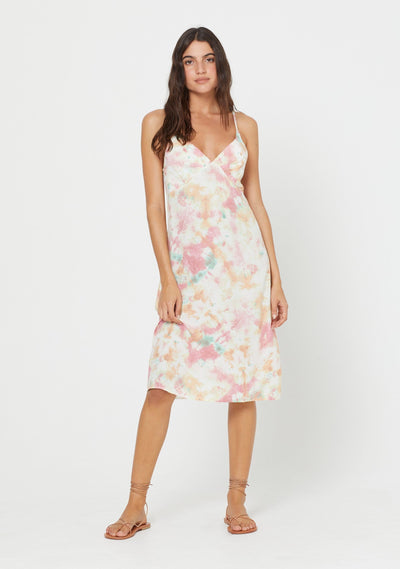 Lumi Keepsake Midi Dress Off White - Auguste The Label
