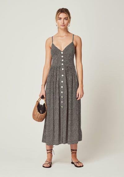 Tear Drop Staple Midi Dress Charcoal - Auguste The Label