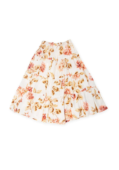 Eden Little Miss Maxi Skirt Off White - Little Auguste
