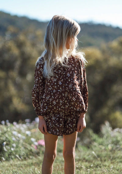 Cleo Tilda Blouse Brown - Little Auguste
