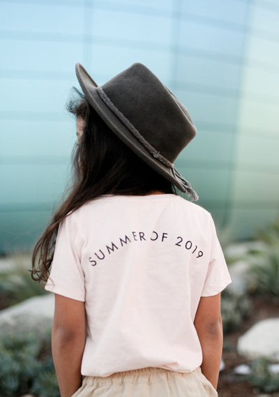 Summer Of 2019 Tee Dusty Pink - Little Auguste