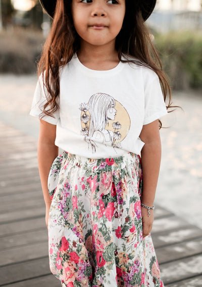 Flowerchild Tee White - Little Auguste
