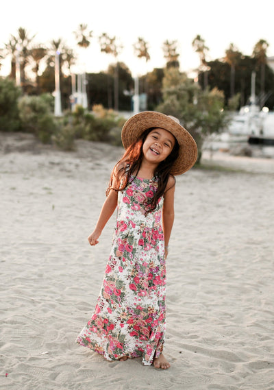 Provence Margot Maxi Dress Natural - Little Auguste
