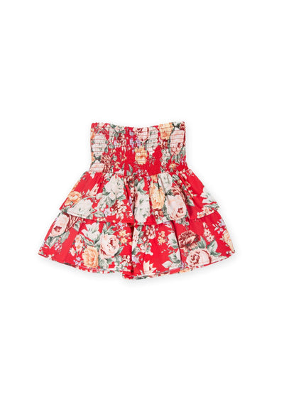 Reverie Amelia Mini Skirt Red - Little Auguste
