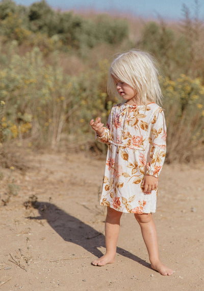 Eden Tilda Mini Dress Off White - Little Auguste
