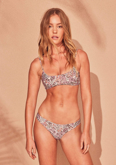 Paisley Cameron Bikini Bottom Blush - Auguste The Label