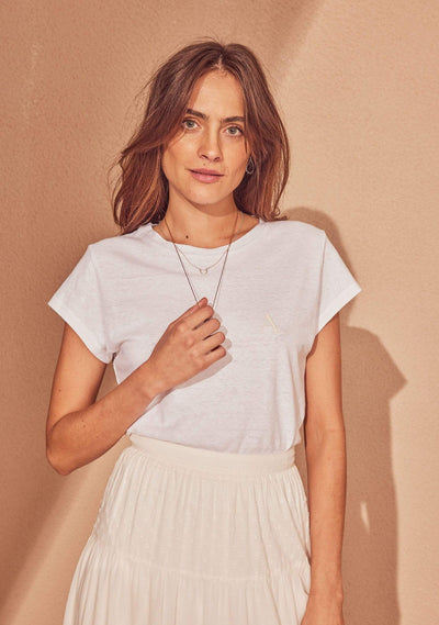 Auguste Cap Sleeve Tee White - Auguste The Label
