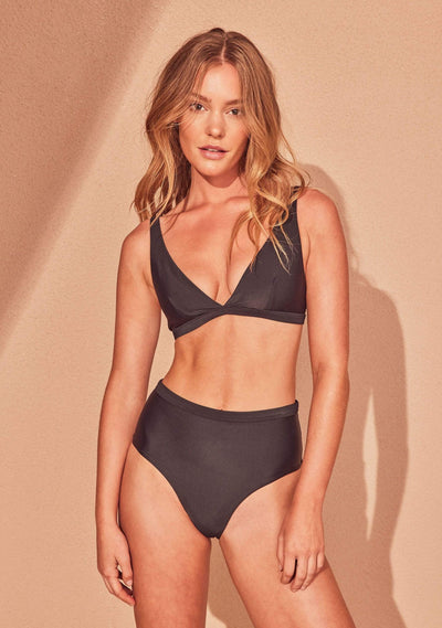 Xandra High Waisted Bottom Ebony - Auguste The Label