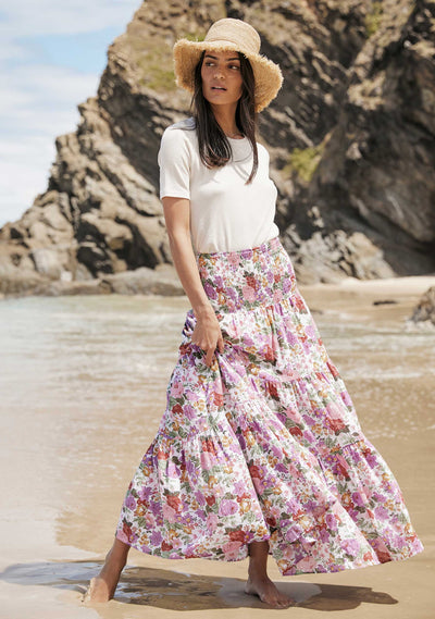 Camila Lucie Maxi Skirt Off White - Auguste The Label
