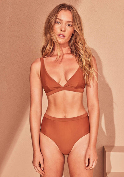 Xandra High Waisted Bottom Tobacco - Auguste The Label