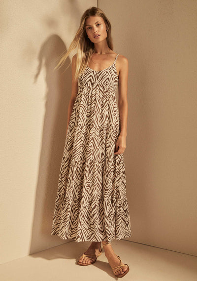 Zani Lyla Maxi Dress Parchment - Auguste The La