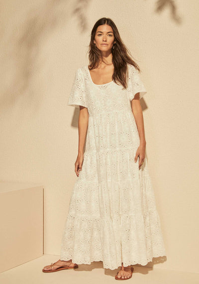 Aaliyah Maxi Dress White - Auguste The Label