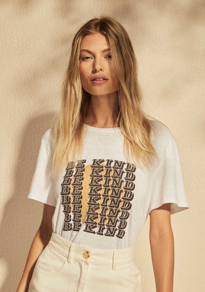 REAL FUN, WOW. Be Kind Classic Tee White - Auguste The Label