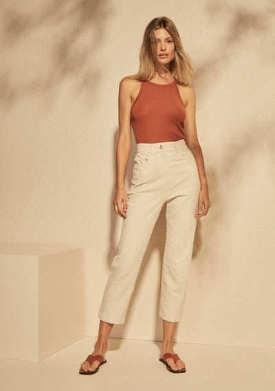 Cropped Leny Pant Pearl - Auguste The Label