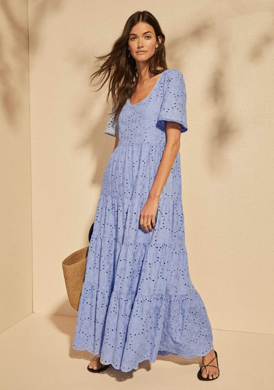 Aaliyah Maxi Dress Cornflower Blue - Auguste The Label