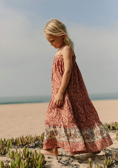 Bohemian Poppy Maxi Dress Rose - Auguste The Label