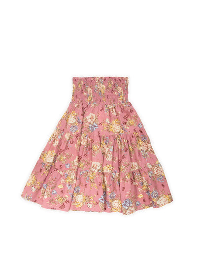 Lillian Sweetheart Midi Skirt Dusty Pink - Little Auguste
