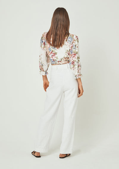 Sadie Frida Blouse Ivory - Auguste The Label