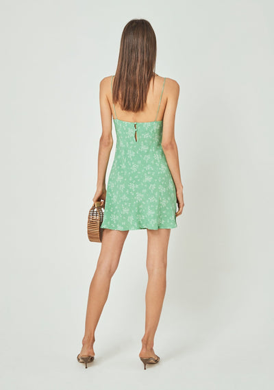 Maeve Davis Mini Dress Vibrant Green - Auguste The Label