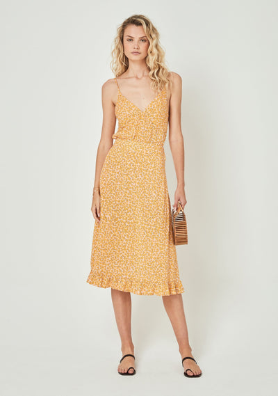 Dean Gia Midi Skirt Yellow - Auguste The Label
