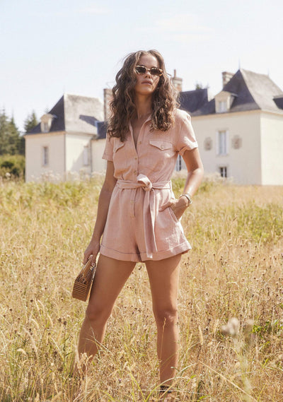Patty Playsuit Blush - Auguste The Label