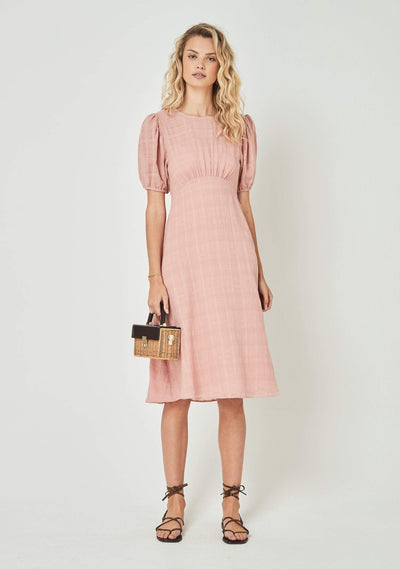 Pia Midi Dress Dusty Pink - Auguste The Label