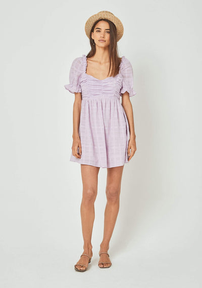 Chloe Mini Dress Lilac - Auguste The Label