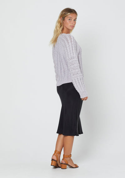 Chloe Cable Jumper Lilac