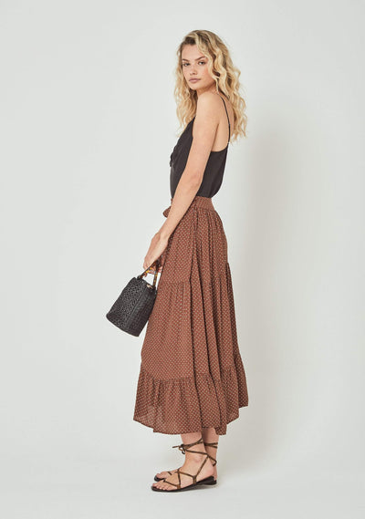 Collins Farrah Midi Skirt Brown - Auguste The Label