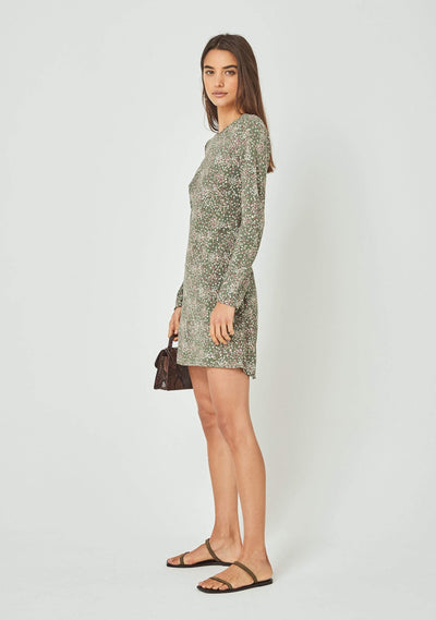 Gemima Rory Mini Dress Khaki - Auguste The Label