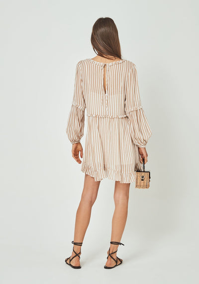 Tour Helena Mini Dress Almond - Auguste The Label