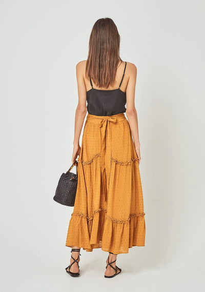Farrah Midi Skirt Amber - Auguste The Label