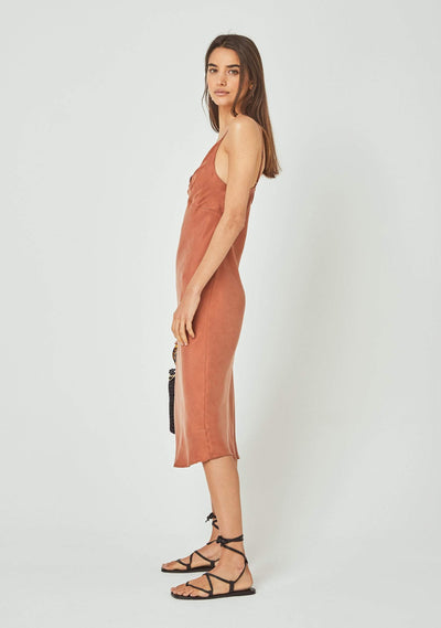 Keepsake Midi Dress Rust - Auguste The Label