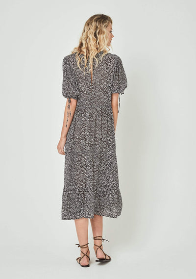 Marlowe Rye Midi Dress Charcoal - Auguste The Label