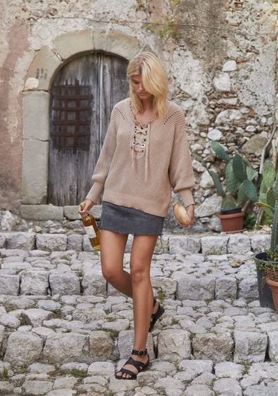 Camino Knit Beige - Auguste The Label