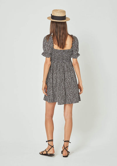 Marlowe Chloe Mini Dress Charcoal - Auguste The Label