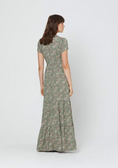 Gemima Bella Maxi Dress Khaki - Auguste The Label