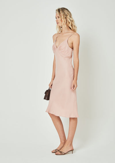 Keepsake Midi Dress Pink Blush - Auguste The Label