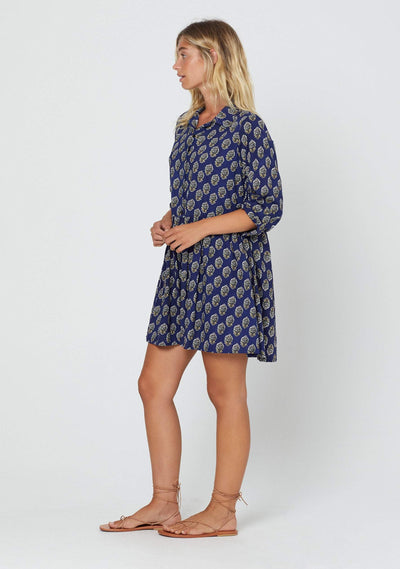 Harmony Zara Shirt Dress Blue - Auguste The Label