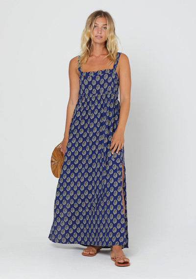 Harmony Zara Strap Maxi Dress Blue - Auguste The Label