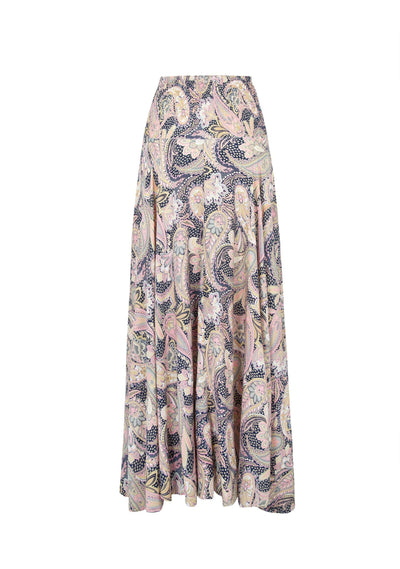 Shawls Shirred Waist Maxi Skirt Navy - Auguste The Label