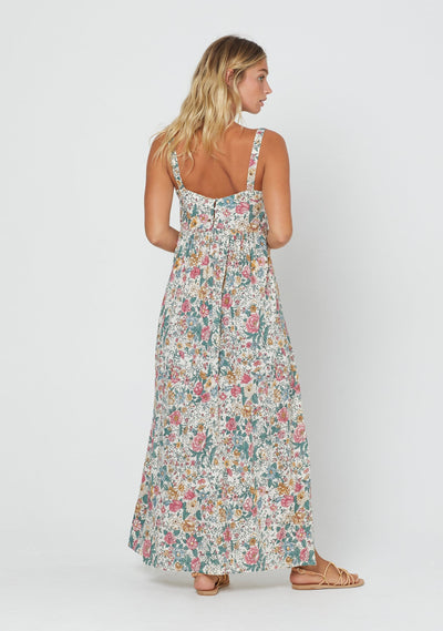 Spring Rose Zara Strap Maxi Dress Natural - Auguste The Label