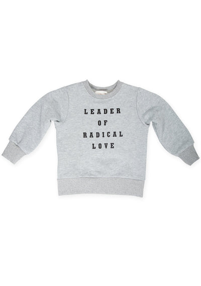 Radical Love Sweater Grey Marle - Little Auguste